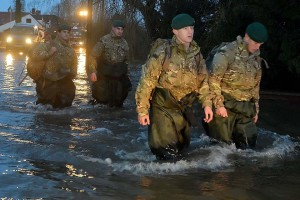 40 Commando Royal Marines deployed to provide flood relief in Somerset