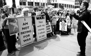 war tax refusers in NYC 2016